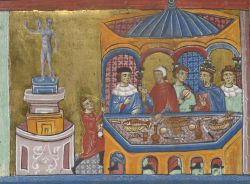 Temple of Janus with senators dining add ms 15268 f242v