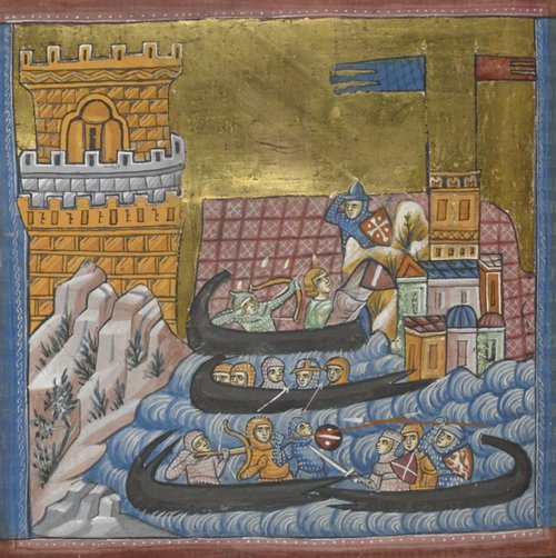 Theseus attacking Crete add ms 15268 f136v